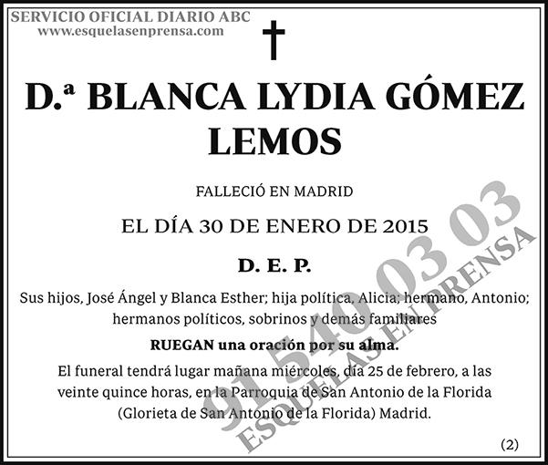 Blanca Lydia Gómez Lemos